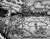 Kalevala Rune III Cut Paper