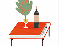 Wine pairing with books and music