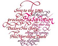 Scriptures Written in Calligraphy