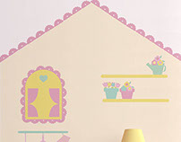 Wall Sticker / Adesivo para quarto de menina