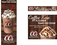 CC's Coffee House banners