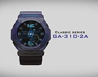 G Shock Casio GA-310-2A | 3D Modelling