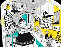 Digital illustrations (Inktober 2017)