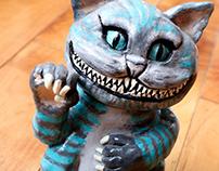 Sculpture en argile - Cheshire Cat