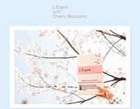마음수련 우명 시집 '마음' 프랑스어판 L'Esprit, 벚꽃이 만나다