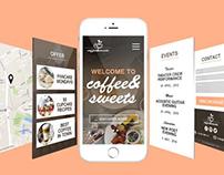Coffee&Sweets || Web & App design