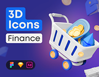 3D Icon Pack: Finance [FREE DOWNLOAD]