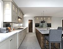 Framed Kitchen Painted & Pale Walnut
