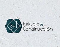 Logo 3+1 Estudio y Construcción