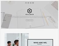 killock Responsive Landing Page