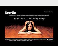 Karelia - high-quality hardwood floors. Promo website