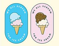Sticker Design Ice-cream