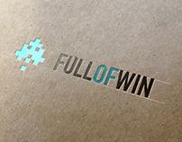 Full Of Win // logo design