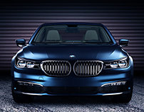 BMW 7 Series G11/12. 3DS Max, Vray