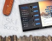 Ski-socks Post-card