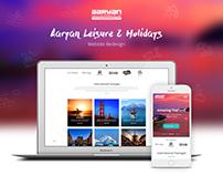 Aaryan Leisure & Holiday Website Redesign
