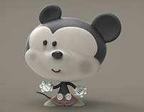 Mickey 3D in a  Old-new style