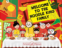 Noodle King Family illustrations