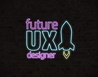 Neon logo Future UX Designer blog