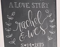 Chalkboard Signage for Bridal Shower