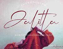 Jalitta - Free Modern Calligraphy Font