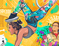 illustrations for ADIDAS Russia | #icreatemyself