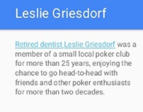 Leslie Griesdorf: Enjoying Retirement