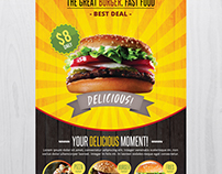 Fast Food - Free PSD Flyer Template
