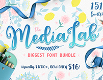 The MediaLab Biggest Font Bundle