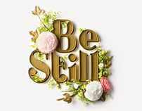 Be Still Quilling Typography