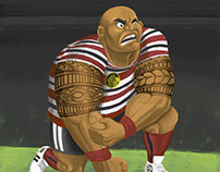 Maori Rugby Player