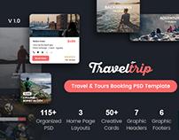TravelTrip - Travel, Tour, Flight & Hotel Booking PSD