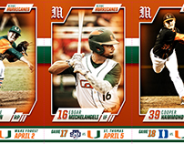 2017 Miami Hurricanes Baseball Ticket Book
