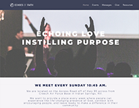 Echoes of Faith Landing Page