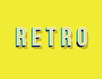 RETRO (Illustrator text effect)