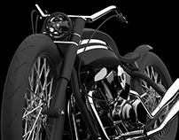 Eagle of the night motorcycle concept