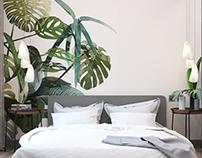 Vegetative bedroom
