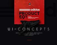 Adidas - ui-ux concepts abt EQT support shoes