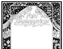 Book Cover Pattern Design: Fort Imagination