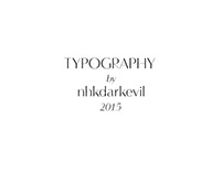 typography | nhkdarkevil | 2015