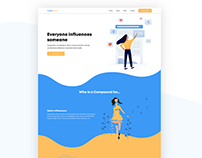 Compound Landing Page - UI design
