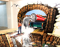 The Surfer | 3D Wall +Floor Art