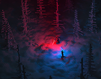 Pixel Wars: lightsabers in the forest