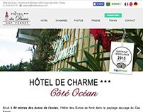Site Web Hôtel des Dunes ***