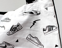 Sneaker Repeat Fabric for 3rdRailClothing