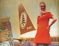 MEA Airlines Retro ads