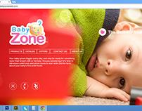 Baby Care Zone. Web design Concept. UI/UX