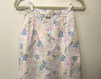 Skirt with lapped zipper