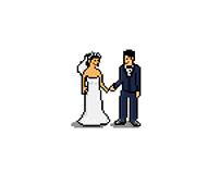 Wedding Invitations - Pixel Art