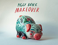 Porcelain Pig Art Transformation - Personal Project